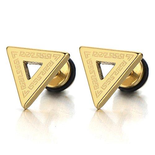 Stainless Steel Triangle Earrings Pattern