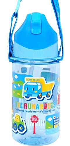 Toddler Runabout - The Runabouts Tritan BPA & BPS Free Straw Water Bottle Heat & Cold Resistant with Strap-Removable