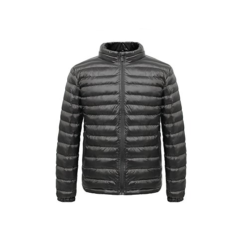 madhero-mens-and-womens-packable-casual-jacket-lightweight-stylish-coat-size-xl-color-black