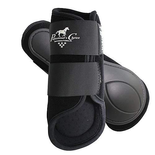 (Professionals Choice Equine Ventech Splint Boot, Pair (Large, Black))