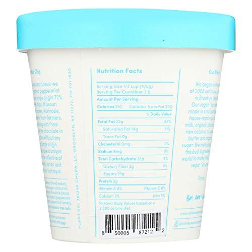 Van Leeuwen, Non Dairy Frozen Dessert Mint Chip, 14 Fl Oz