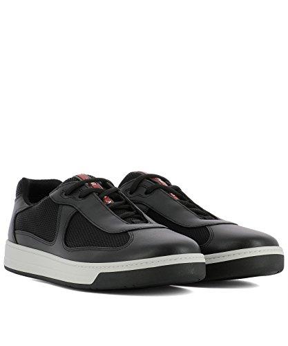 Prada Hombre 4E316600VF0002 Negro Cuero Zapatillas