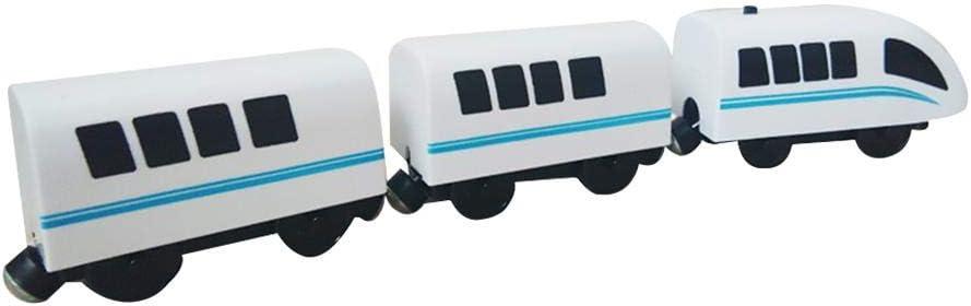fervory Tren Electrico Juguete Locomotora De Vapor del Juguete Hape-Era Tren De Carga De Los Niños Compatible con Pista De Madera Thomas BRIO