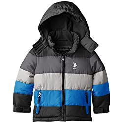 U.S. Polo Association Little Boys' Bubble Jacket with Detachable Hood