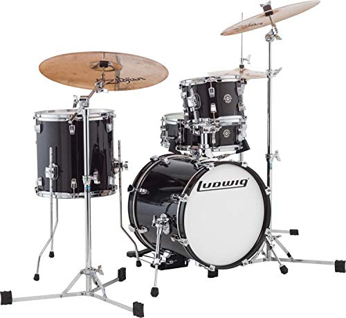 Ludwig Breakbeats by Questlove 4-Piece Shell Pack with Snare Drum - Black Gold Sparkle