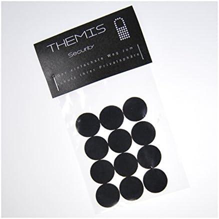 KAMKOVER de Themis Security - Pegatinas de seguridad para cubrir cámaras web 20 mm (12 unidades, para portátiles, webcams, tabletas, teléfonos ...