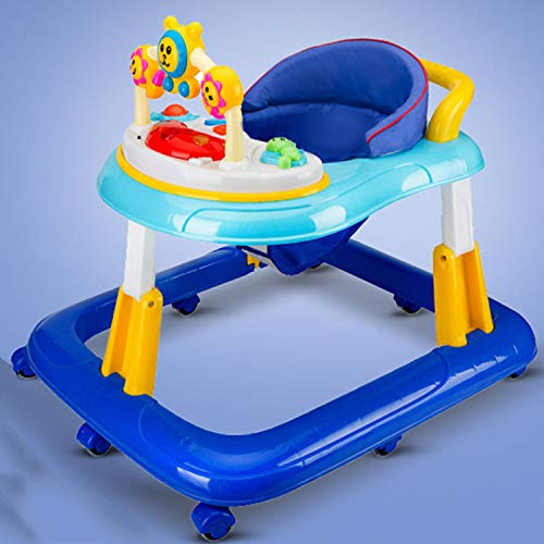YXXHM- Baby Walker 6/7-18 Meses Anti-Rollover Multifunción Niños Plegables con Aprendizaje Musical Driving Manual Cerebro...