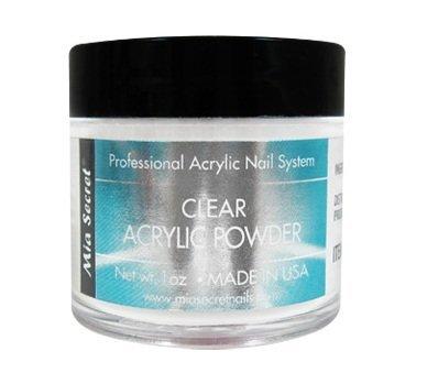 Mia Secret 1 oz Clear Acrylic Powder Professional Nail Art (Nail Art System)