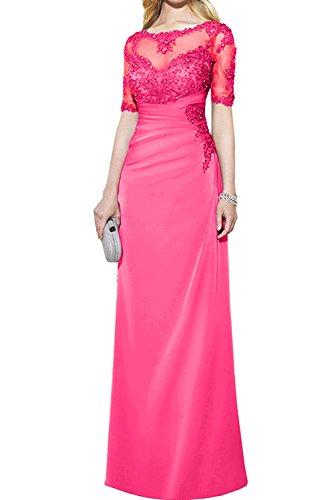2017 Pink mit Promkleider Gruen Neu Paillette Partykleider Ivydressing Abendkleider Spitze Bodenlang Kurzarm S76qttw