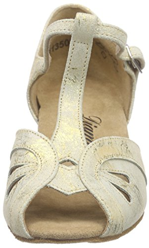 Diamant Diamant Damen Tanzschuhe 019-011-017 - Zapatos de danza moderna/jazz Mujer Dorado - Gold (Gold Magic)