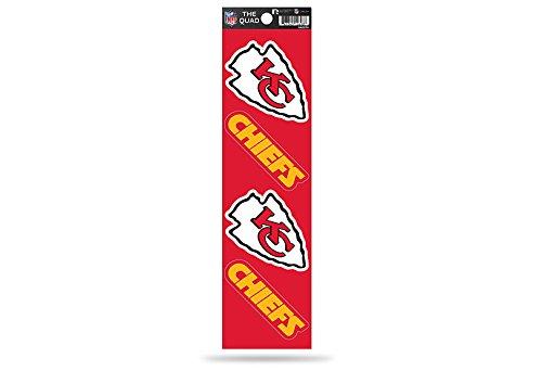 (Rico Industries NFL Kansas City Chiefs Die Cut 4-Piece The Quad Sticker Sheet)