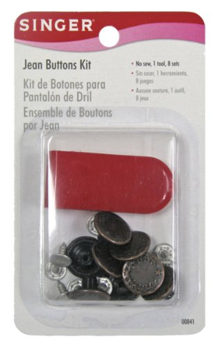 Price comparison product image Singer Jean Buttons Kit, 8 Set with Tool