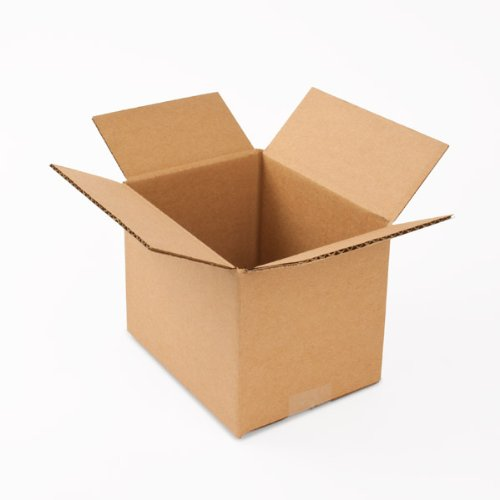 Pratt PRA0017 100% Recycled Corrugated Cardboard Box, 8'' Length x 6'' Width x 6'' Height, Kraft by Pratt