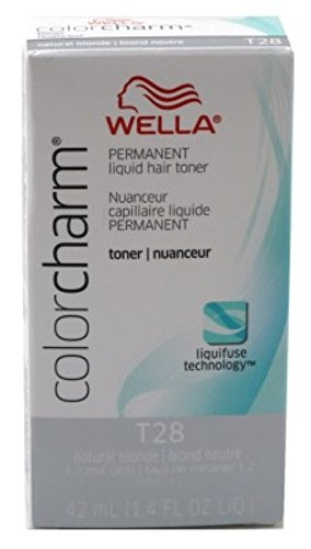 Wella Color Charm Liquid Toner #T28 Natural Blonde (41ml) (2 Pack)