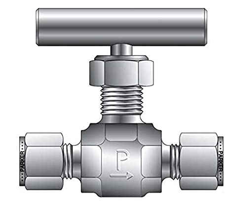 1//2 FNPT x 1//2 FNPT 1//2 FNPT x 1//2 FNPT Parker Hannifin Corporation Parker Hannifin 8F-V12LN-B-C3 Series V Brass Needle Valve Inline Pattern PTFE Seal Cleaned for Oxygen Service Needle Stem