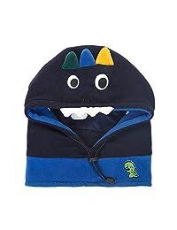 "Xinqiao Baby Girls Boys Winter Hat Earflap Mask Hood Scarf Skull Cartoon Caps (Small(Head Girth 17""-19""), Navy Dinosaur)"