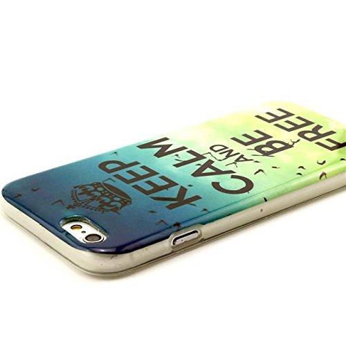 PowerQ [ para IPhone6 IPhone 6 6G - 2 ] Patrón TPU Caja colorida Serie Bolsa Imprimir patrón de impresión dibujo Celular caso móvil de la cubierta suave Proteja la piel Case Cover Caso 70