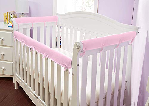 Gray//White American Baby 1 Pack Heavenly Soft Narrow Reversible Crib Rail Cover for Long Rails Measuring up to 4 folded