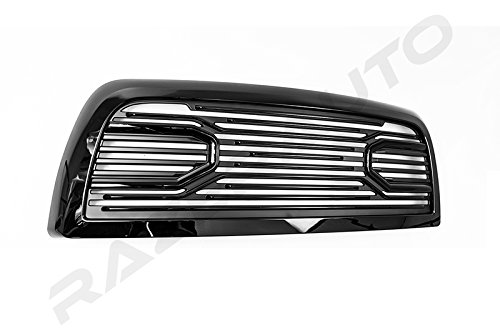 Razer Auto Gloss Black Big Horn Style Complete Grille Factory Replacement Grille w//Shell for 2010-2018 Dodge RAM 2500//3500//4500//5500