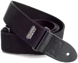 Dunlop DD4009BK Double D Solid Black Extra Long Strap