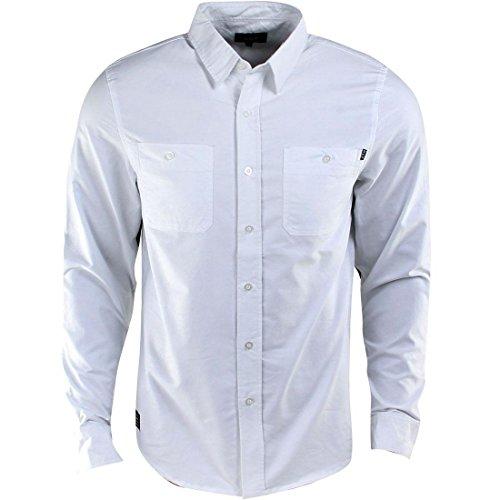 White Tiger Camo (HUF Tiger Camo Oxford Woven Long Sleeve Shirt (white))