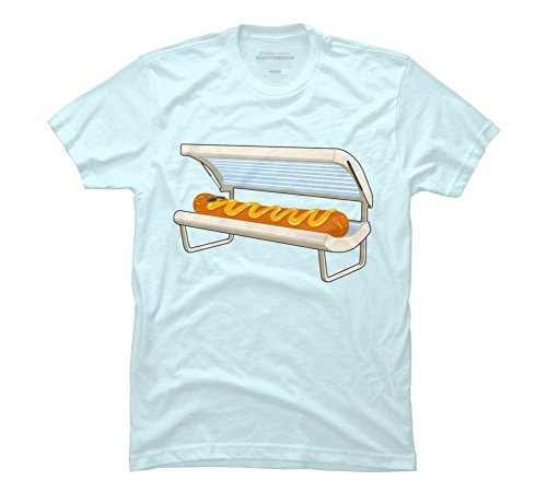 Hot Dog Men's 3X-Large Light Blue Graphic T Shirt - Design By Humans ()