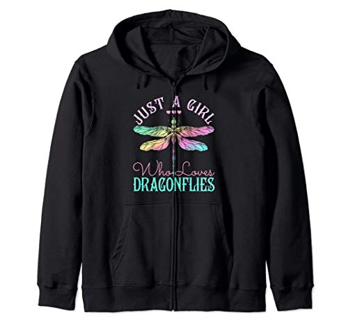 - Just A Girl Who Loves Dragonflies - Dragonfly  Zip Hoodie