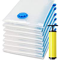 Vacuum Space Saver Reusable Sealer Storage Bags 70x100cm, Pack Of 7, With Suction Pump