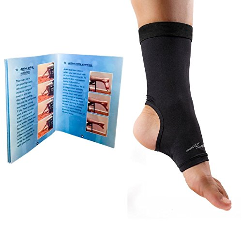 8f34be03eb Doctor Developed Copper Ankle Compression Sleeve / Ankle Support, Ankle  Brace, Foot Sleeve [Single] AND DOCTOR WRITTEN HANDBOOK —GUARANTEED  Arthritis Relief ...