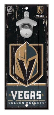 WinCraft NHL Las Vegas Golden Knights Wood Bottle Opener Sign, 5