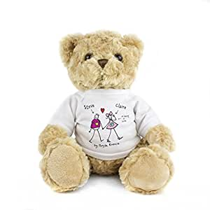 Purple Ronnie Couple Message Bear. This is a great product that can be personalised to your requirements ( please see main discription for full details ) Ideal gifts and presents for weddings, Christenings, Birthdays, Christmas etc…