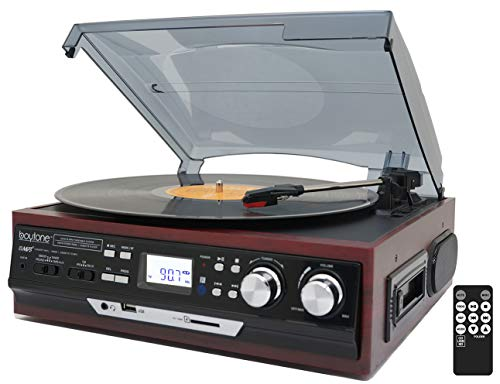 Boytone BT-17DJM-C 3-Speed Stereo Turntable, 2 Built in Spea