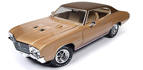 Autoworld AMM1105 1970 Buick Skylark GS Gold Hemmings Muscle Machines Limited Edition to 1002pc 1/18 Diecast Model Car