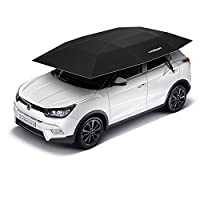 Yiphates Lanmodo Automatic Carport Automatic Car Tent Portable Car Umbrella Remote Control with Anti-UV, Water-Resistant, Proof Wind, Snow, Storm, Falling Objects Features