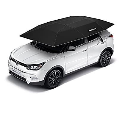 Yiphates Lanmodo 4-Season Automatic Carport Automatic Car Tent Portable Car Umbrella Remote Control with Anti-UV, Water-Resistant, Proof Wind, Snow, Storm, Falling Objects Features