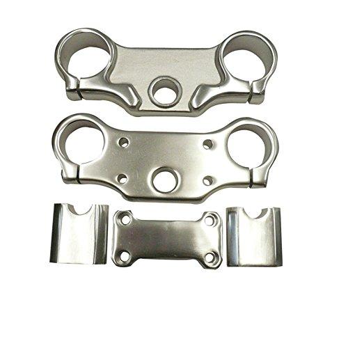 (TC-Motor Aluminum Triple Clamps Bar Risers Taper Mount for 7/8'' 22mm Handlebar 45mm Upper 48mm Lower Front Fork Chinese Pit Dirt Bike 50cc 70cc 90cc 110cc 125cc 140cc 150cc 160cc)