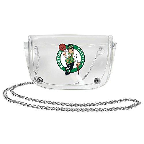 NBA Boston Celtics Clear Carryall Crossbody (Boston Celtics Snap)