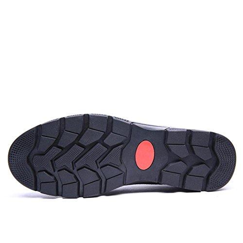 Männer Freizeit Leder Schuhe Geschäft Formal Herbst Winter Gemütlich Beiläufig Schwarz Braun Groß Größe 37-47 Black