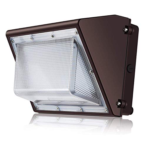 SOLLA 60W LED Wall Pack Light, 6900LM IP65 Waterproof, 100-277Vac, 200-270W HPS/HID/MH Replacement, 5000k Daylight White, DLC & ETL-Listed Wall Light Fixture for Outdoor/Entrance, 5 Year Warranty (Light 50w Wall)