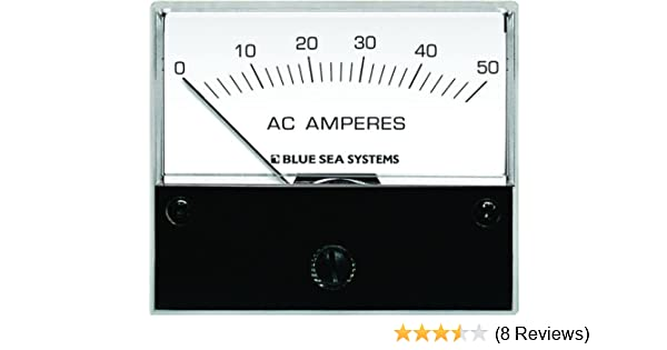 Blue Sea Systems 9630 AC Analog Ammeter 0-50 Amperes AC