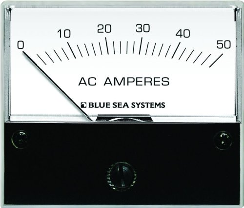Analog System (Blue Sea Systems 9630 AC Analog Ammeter (0-50 Amperes AC))