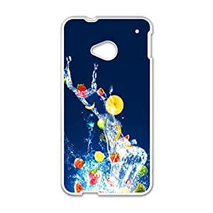 HTC One M7 Cell Phone Case White Fruits BNY_6916144