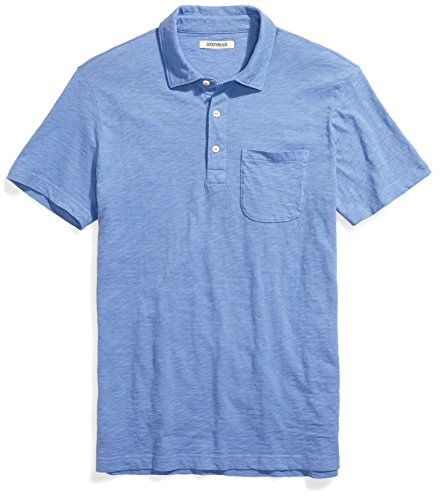 Goodthreads Men's Lightweight Slub Polo, Moonlight Blue/Blue, ()