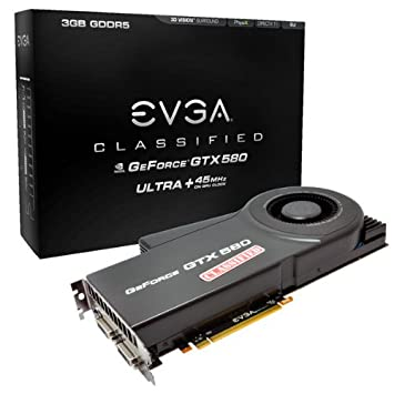 Amazon.com: EVGA GeForce GTX 580 Classified Ultra, 3072 MB ...