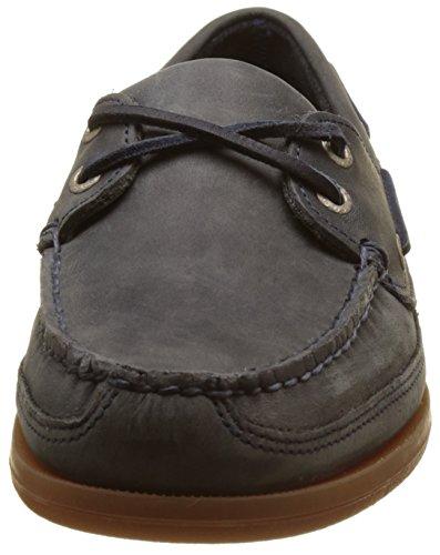 Sebago Schooner, Náuticos Para Hombre Azul (Navy Leather)