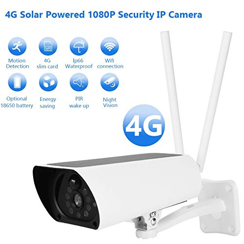 Solar Camera, 2MP 1080p WiFi Outdoor Security IP Bullet Camera, PIR Motin Detection, Real-time Two Way Talk, Night Vision for Home Security
