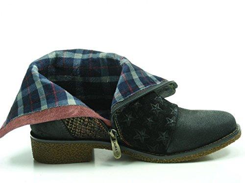 08 8 Schwarz Boots Laura SL1205 Coralie Womens Vita Leather EqBWZwHIx