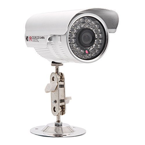 MicroMall(TM) 1200TVL Waterproof HD Infrared Security Camera Built in 36-LED 6mm Lens for Outdoor or Indoor Surveillance