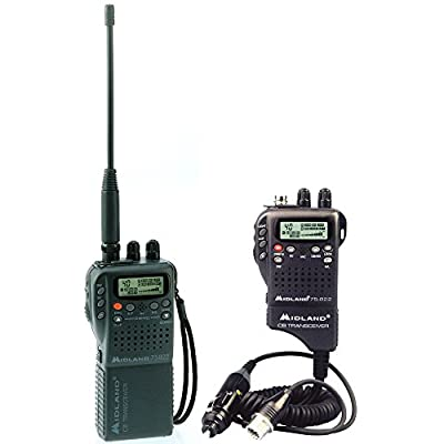 MIDLAND RADIO-Handheld Mobile CB w/ Adapter by Midland
