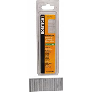 BOSTITCH SB16-1.25-1M 1-1/4-Inch by 16 Gauge Bright Finish Nail (1,000 per Box)